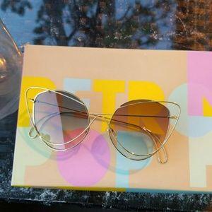 Accessories - New fashion Double Wire Cat Eye Sunglasses Women 2